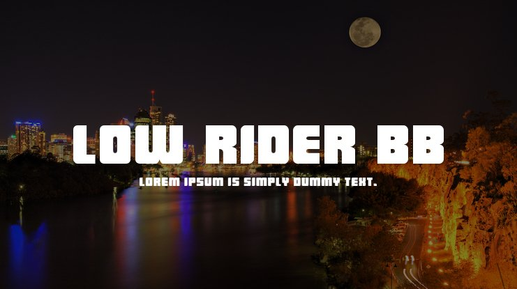 Low Rider BB Font Family