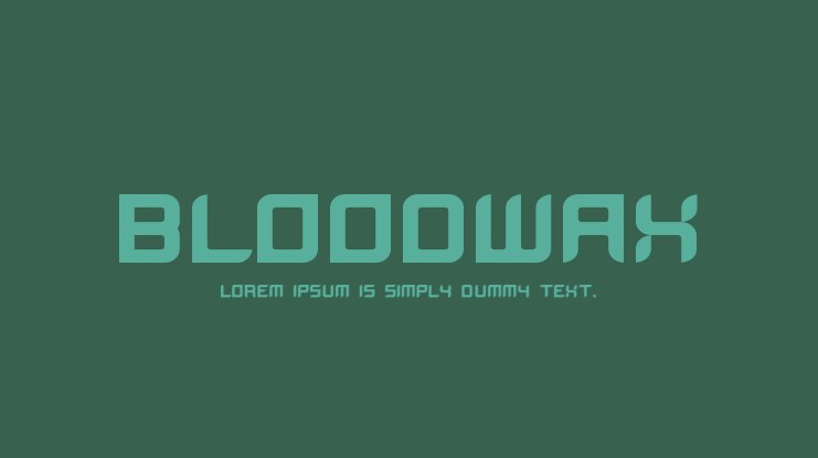 BloodWax Font Family