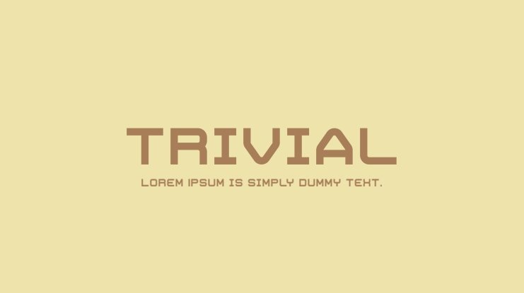 Trivial Font Family