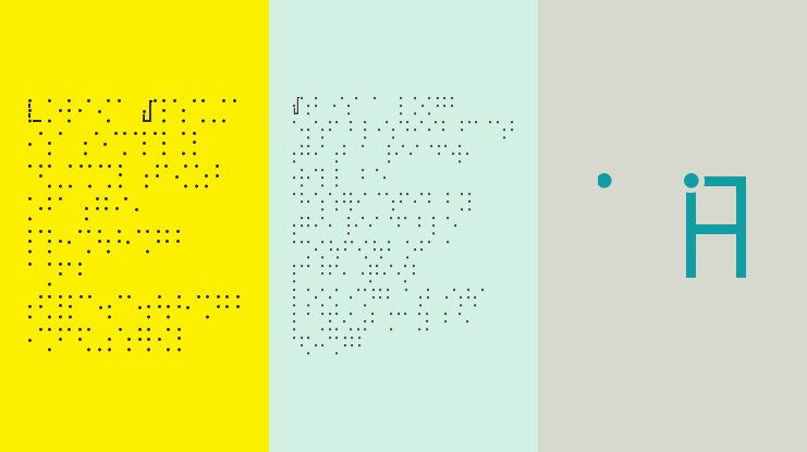 Visual Braille Font