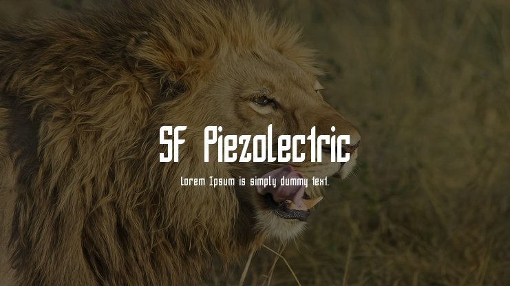 SF Piezolectric Font Family