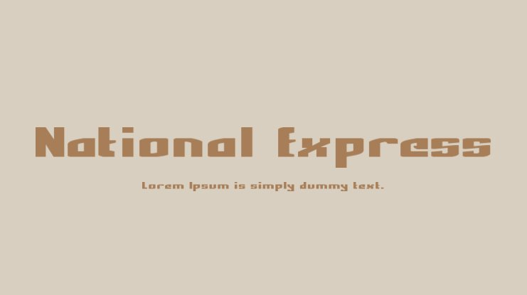 National Express Font Family