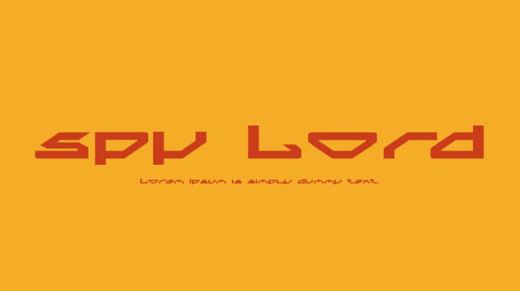 Spy Lord Font Family
