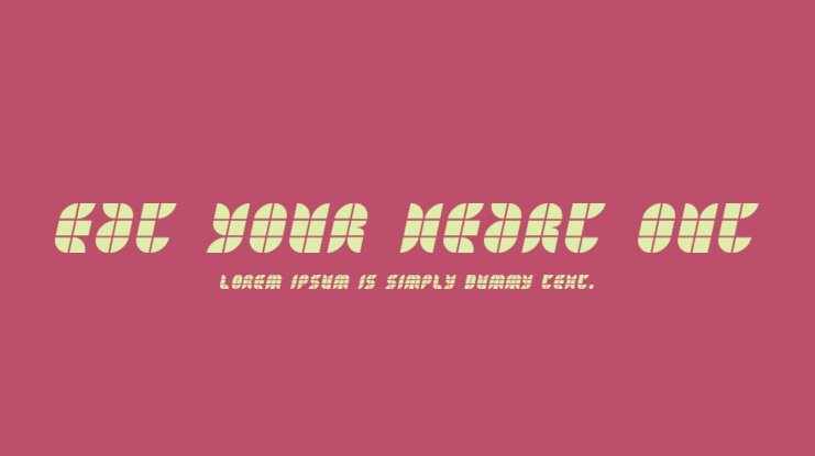 Eat your heart out Font