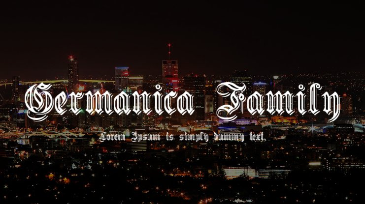 Germanica Family Font Family