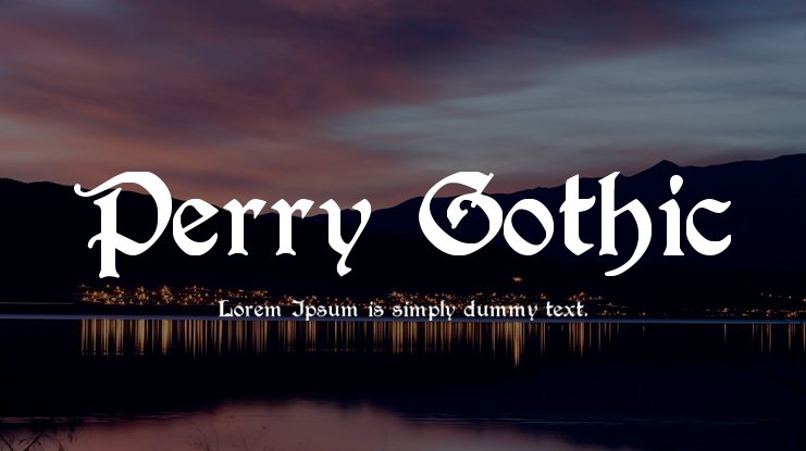Perry Gothic Font