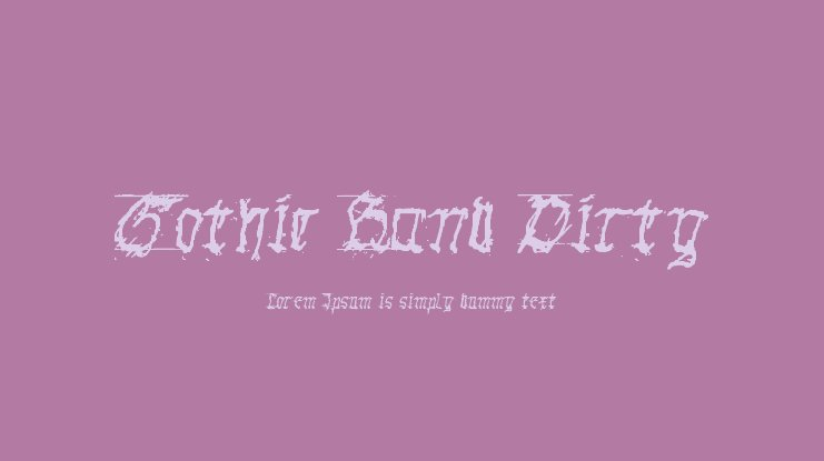 Gothic Hand Dirty Font Family