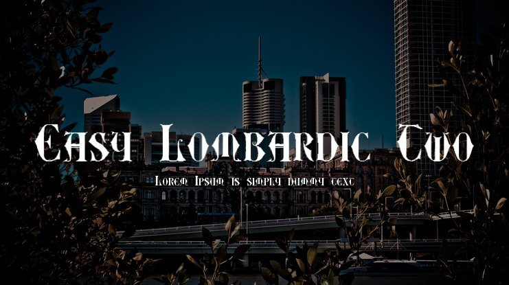 Easy Lombardic Two Font