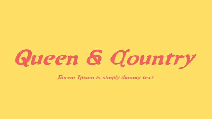 Queen & Country Font Family