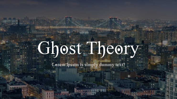 Ghost Theory Font Family