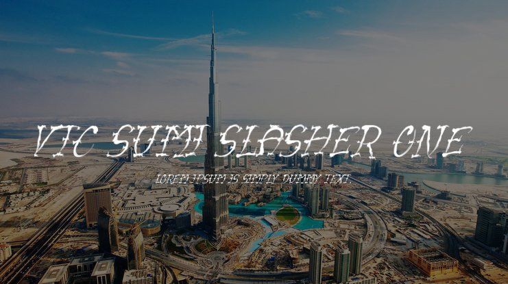 VTC Sumi Slasher One Font Family