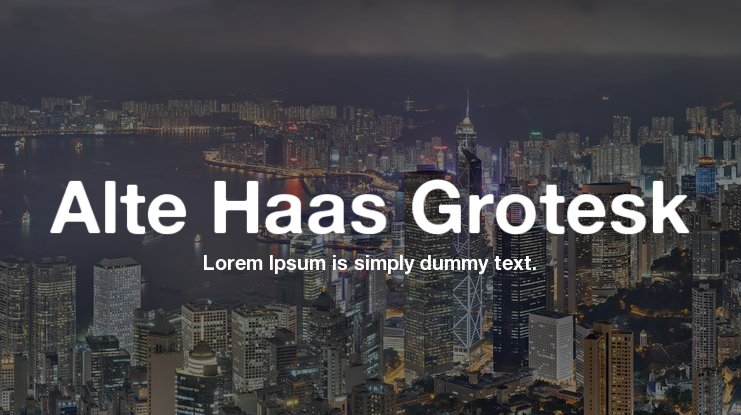 Alte Haas Grotesk Font Family