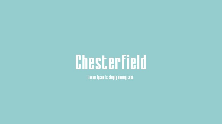 Chesterfield Font