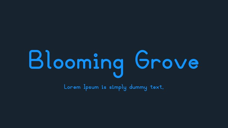 Blooming Grove Font Family