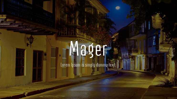 Mager Font Family