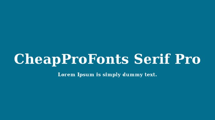 CheapProFonts Serif Pro Font Family