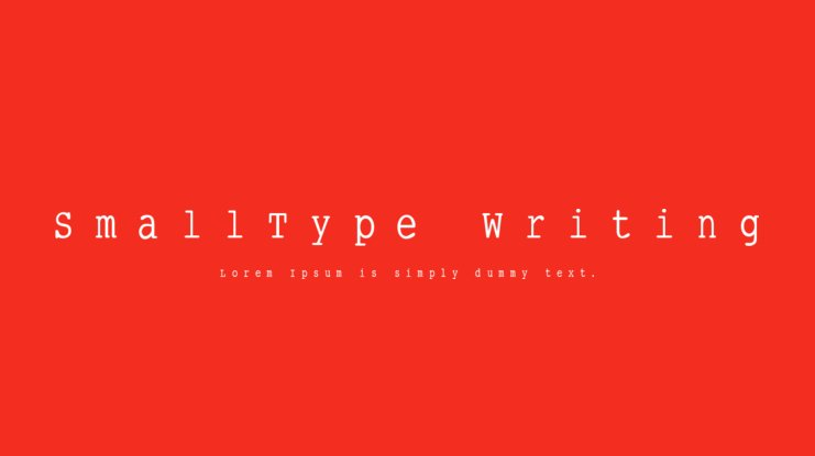 SmallType Writing Font Family