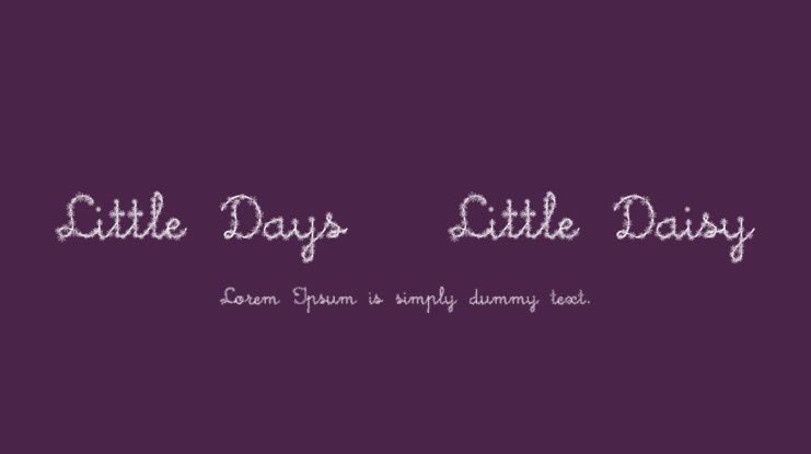 Little Days + Little Daisy Font Family