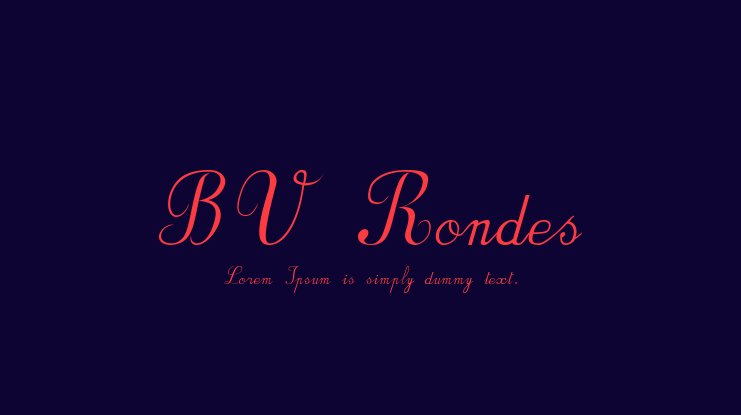 BV Rondes Font Family