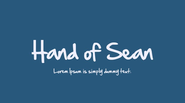 Hand of Sean Font