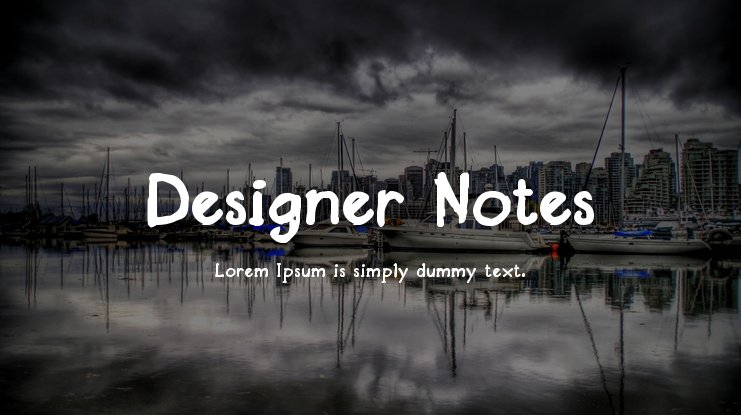 Designer Notes Font Family