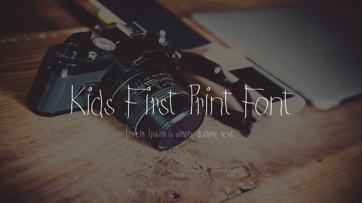 Kids First Print Font
