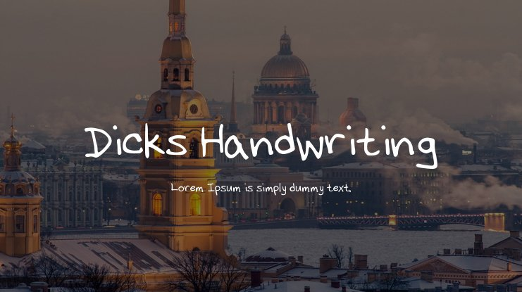 Dicks Handwriting Font