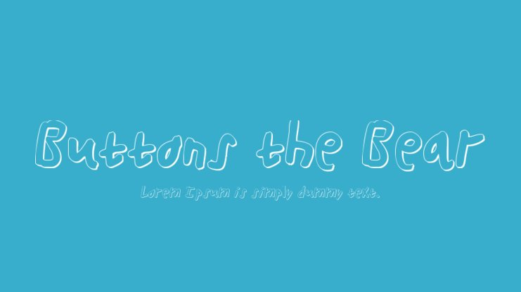 Buttons the Bear Font Family
