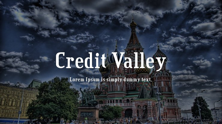 Credit Valley Font Family