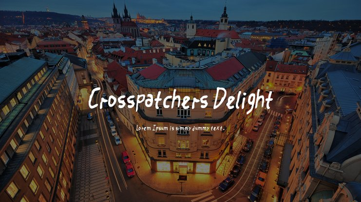 Crosspatchers Delight Font Family