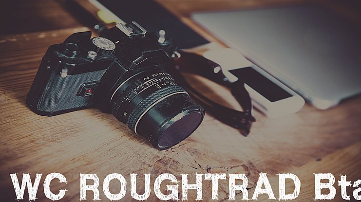 WC RoughTrad Bta Font Family