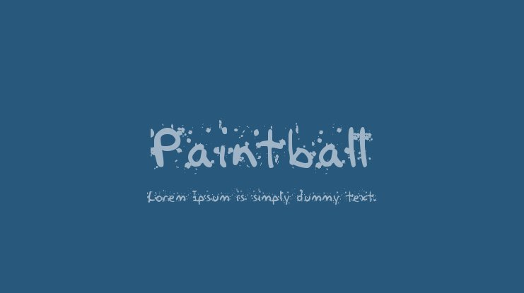 Paintball Font