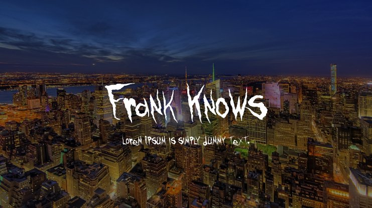 Frank Knows Font