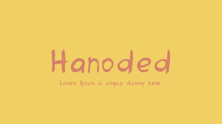 Hanoded Font